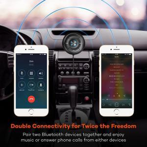 China Bluetooth Car Speakerphone Kits,Hands-Free Motion AUTO-ON Car Kit Stereo Music Speaker Wireless Sun Visor Audio Receiver on sale