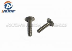 China Mushroom Head M3 Stainless Steel Machine Screws Metric System For Fastening on sale