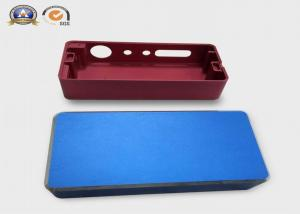 China 4 inches customized aluminum machining case color anodizing for electronic cigarette on sale