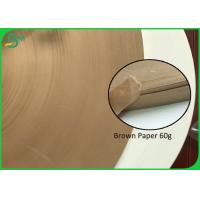China Brown Paper 60G Straw Coloured Paper Roll 15MM 27MM Kraft Paper For Paper Straw on sale