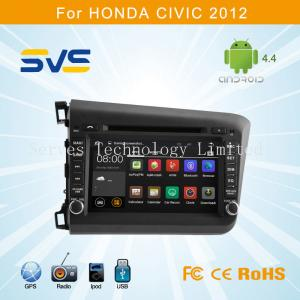 China Android 4.4 car dvd player with GPS navigation for HONDA Civic 2012 2013 2014 8 2 din on sale
