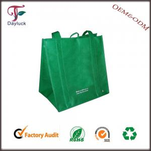 China Jute in green color economic wholesale shopping bags on sale