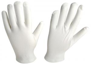 China Soft Touch Slip Resistant Gloves , Cotton Medical Gloves Self Hemmed Cuff on sale