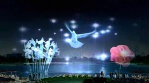 China large water screen movie and laser fountains project with laser generator on sale