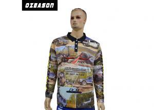 China Full Sublimation printing custom made promotion team set long sleeve polo shirt on sale