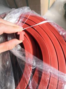 China Red Color Silicone Rubber Washers Silicone Stripe 9mpa Tensile Strength on sale