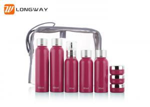 China 100ML 80ML Travel Makeup Bottles Set , Empty 9pcs Aluminum Lotion Bottles on sale