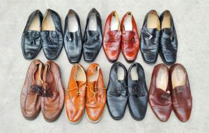 China Grade A Summer Used Men's Shoes Export to Africa , Large Size Second Hand Man Shoes on sale