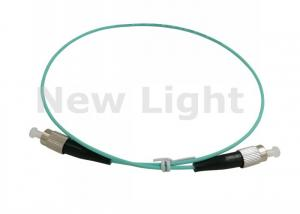 China OM3 50 / 125 Simplex Optical Fiber Patch Cord 0.5 Meter FC FC Fiber Optic Cable on sale