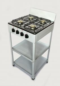 China Europe Style Table Four Burner Gas Cooker With Shelf on sale