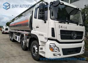 China Dongfeng 8*4  27.5cbm Fuel Tank Trailer 340HP  Aluminium Alloy For Transporting Oil on sale