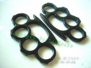 Quality cheap Terminator black thin brass knuckles duster for sale