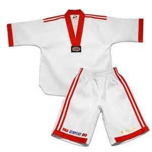 China White Cotton Adult WTF Taekwondo Uniform Emboidery 110cm to 210cm on sale