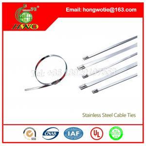 China 100 PC por la atadura de cables del acero inoxidable de la resistencia ácida del bolso para los aros de la manguera on sale