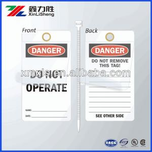 China Self - Sealing Manila Electrical Safety Tags Economy Polyester / Self Adhesive Label on sale