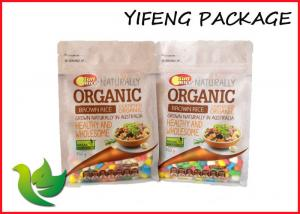 China Rice Plastic Food Pouch Stand Up Ziplock Bag Gravure Printing on sale