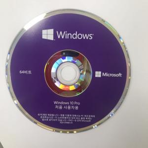 China New version OEM Package Microsoft software retail license key with DVD download Windows 10 Pro Korean Language on sale