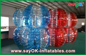 China Red And Blue PVC / TPU Bumper Ball Bubble Football For Adult / Children Playing on sale