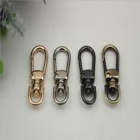 China Multi-color provide zinc alloy handbag 8 mm d shape nickel color strap snap hook on sale