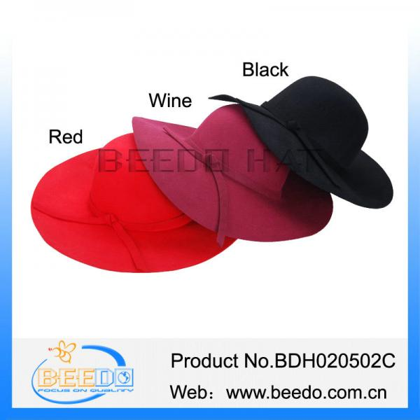 d73f18a4126 Wide brim wool bowler formal hats for women made in china for sale ...