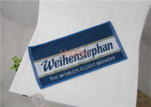 China 100% Cotton Hotel Hand Towels With Full Size Reactive Print Logo on sale