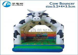 China inflatable cow bounce mat inflatable playhouse for kids on sale