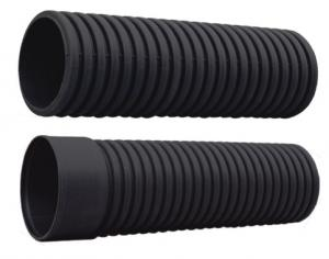 Hdpe dwc sn with socket end pipe pe corrugated pipe for sale