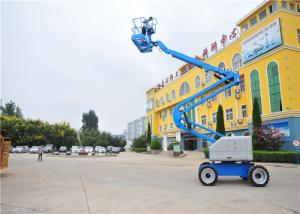 China Trailer Mounted Single Man Lift , Towable Articulating Boom Lift JHC Electric Dual Brake System on sale