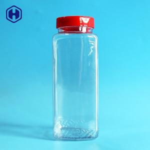 China Large Capacity PET Spice Jars Recyclable Eco Friendly SGS FDA Certificated on sale