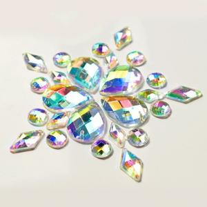 China Colorful Pear Shaped Sew On Glass Crystals , Extremely Shiny Sew On Gemstones on sale