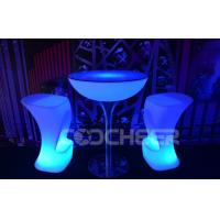 China Round Stand High Illuminated Cocktail Tables Personalized Cocktail Bar Tables on sale