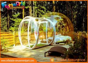 China Transparent Igloo Dome Tent / 0.6mm PVC Tarpaulin Inflatable Bubble Tent on sale