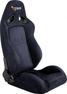 China Easy Install Black Leather Racing Seats , Race Car Seats With Seat Belts on sale