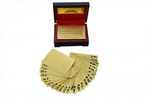 China Custom size 24K Gold foil Playing Cards Poker cards birthday gifts on sale