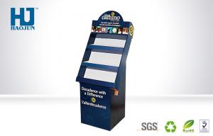 China Promotional 3 Tier POP Cardboard Display Stand Full Colour Print Recyclable on sale