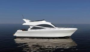 China 1000 Liter Fuel 45 Feet Sport Motor Yachts With High Class Interior Decoration on sale