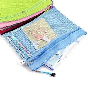 China Double Layer Nylon Mesh Transparent Zipper Pencil Bags , File Document Bag on sale