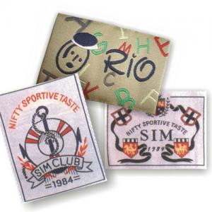 China Vintage Satin Clothing Labels / Custom Fabric Labels / Elegant T shirt Tags With Customized Logo on sale