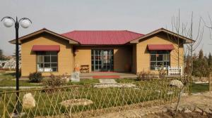 China Long life time prefabricated construction , WPC House with Light Gauge Frame on sale