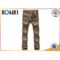 Comfortable Mens Custom Pants Anti - Wrinkle With Polyester / Cotton Material