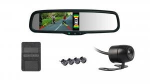 China 5 LCD Car Parking Sensor System 640*480 High Resolution Rearview Mirror on sale