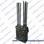 Waterproof Durable Military High Power GPS WIFI5.8G Drone Signal Backpack Jammer
