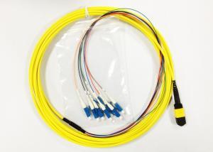 Quality Cabo de remendo da fibra óptica de MPO LC horizontalmente circularmente com cabo for sale