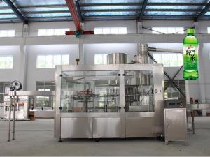 China PET Bottle Juice Production Machine Filling Function 3 In 1 Unit PLC Control on sale