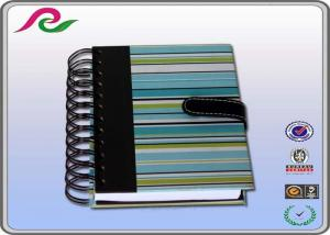 China A5 hardcover Spiral Bound Notebooks / composition notebook with button on sale