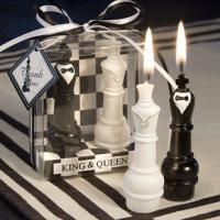 China King and Queen Chess Piece Candle Favors on sale
