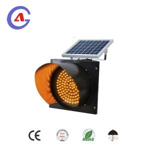 China road safety blinking led signal solar traffic light solar flash warning light on sale