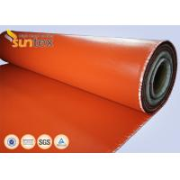 Red Fire Resistant Silicone Coated glass cloth fabric For Expansion Joint High Strength