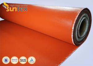China Red Fire Resistant Silicone Coated glass cloth fabric For Expansion Joint High Strength on sale