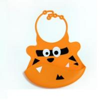 personalized silicone rubber baby bibs with adjustable snaps